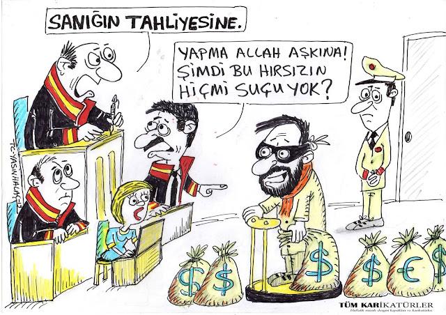 yargı sistemi karikatürü