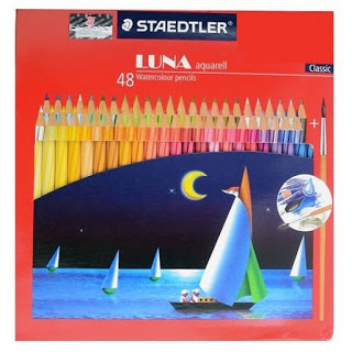 Staedtler Luna Triangular Coloured Dan Watercoloured Pensil Warna Aman Untuk Anak