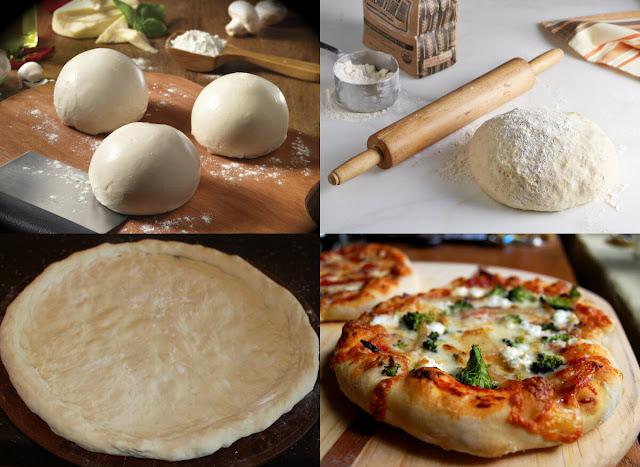 أحلى وأسهل طريقة لعمل عجينة البيتزا