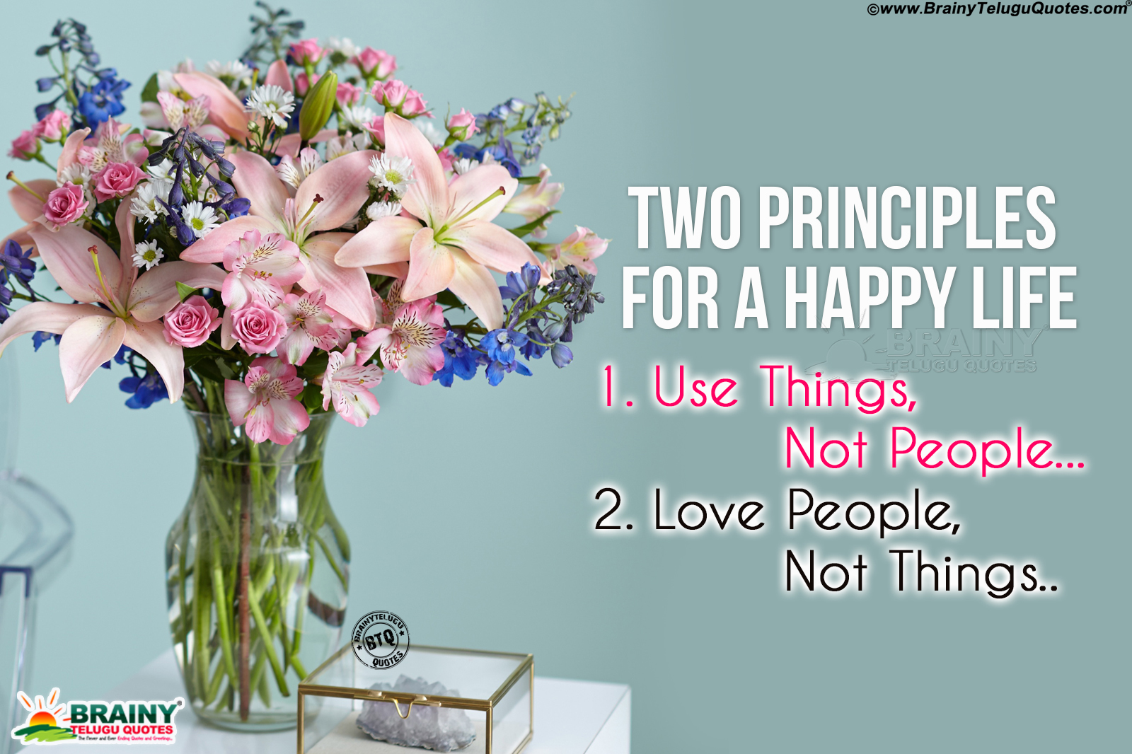 Best Principles of Life to Be Happy Quotes in English-Be ...