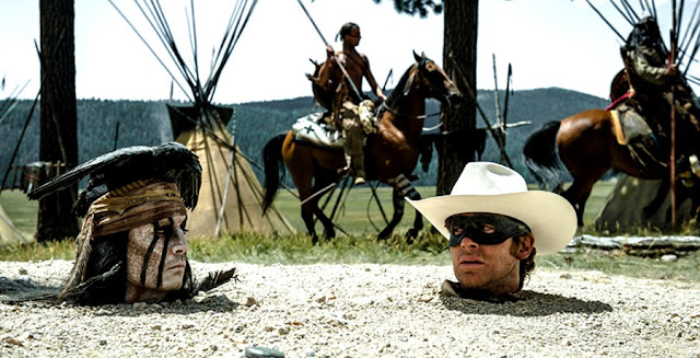 Johnny Depp si Armie Hammer In The Lone Ranger 2013