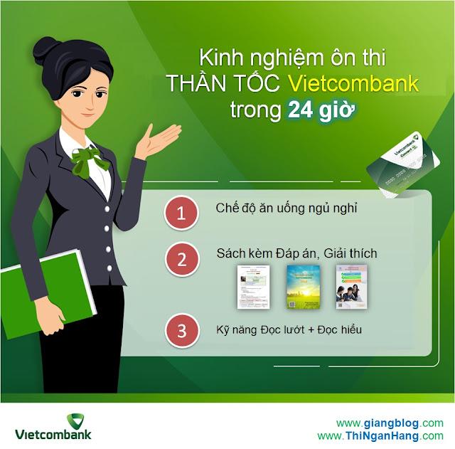 Kinh nghiệm ôn thi THẦN TỐC Vietcombank trong 24h