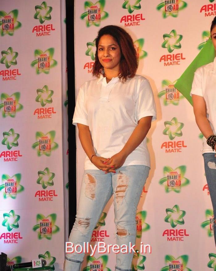 Masaba Gupta, Soha Ali Khan Masaba Gupta Hot Pics at Ariel Men & Women Washcare Label Launch