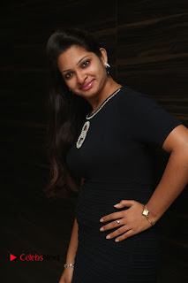 Actress Jyo Stills in Black Short Dress at Dwaraka Movie Audio Launch 0009