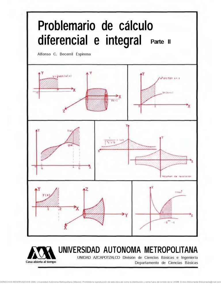Problemario de cálculo diferencial e integral, Parte II