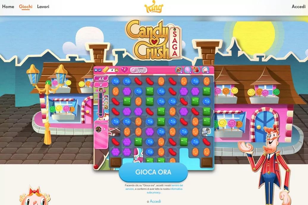 inizio partita a candy crush saga senza account facebook