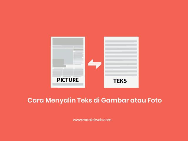 cara ini akan sangat mempermudah kau dalam mengetik atau menyalin teks dari gambar atau  Cara Menyalin Teks dari Gambar atau Foto ke Microsoft Word