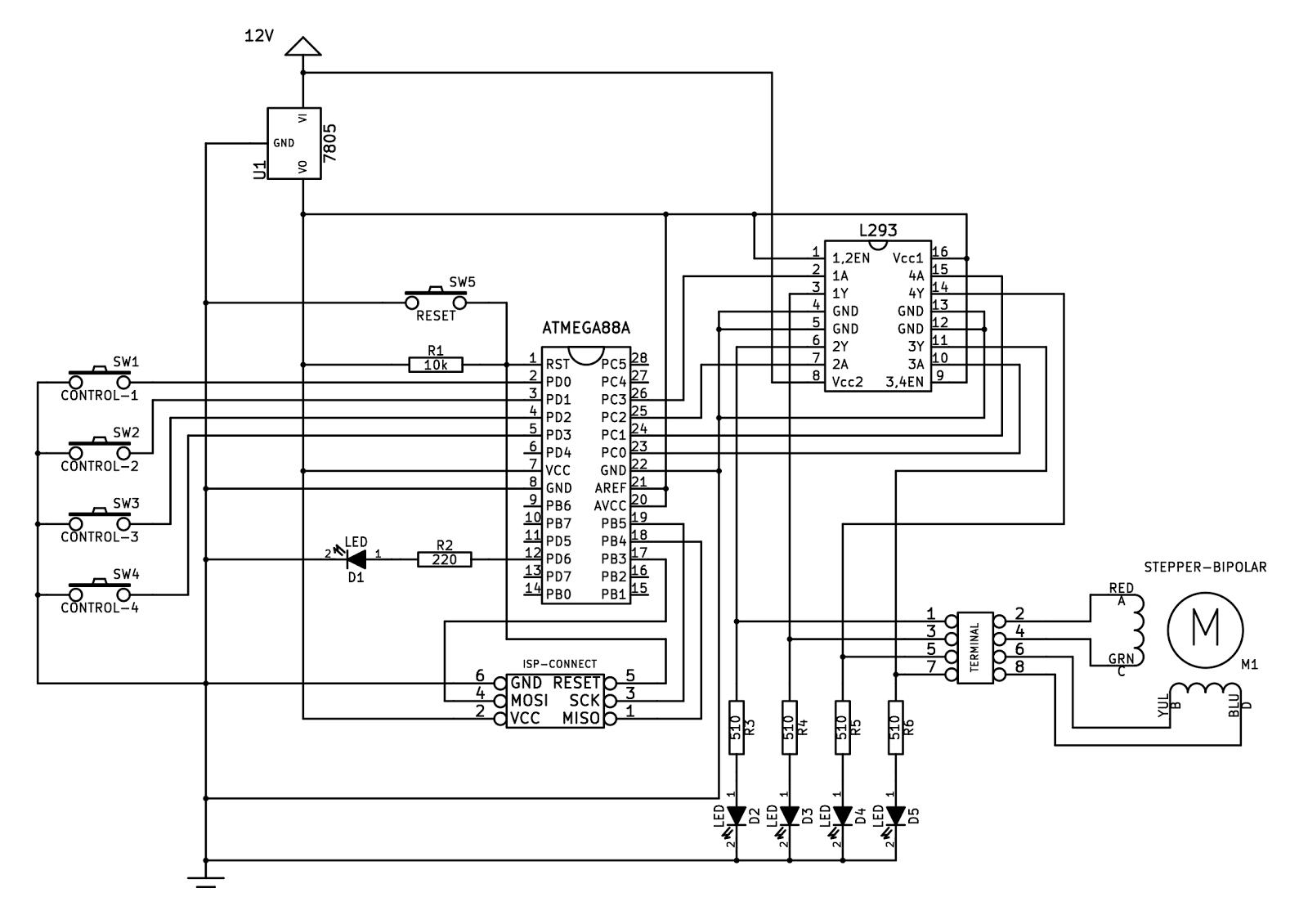 Richard's Engineering Blog: Stepper Motor Setup