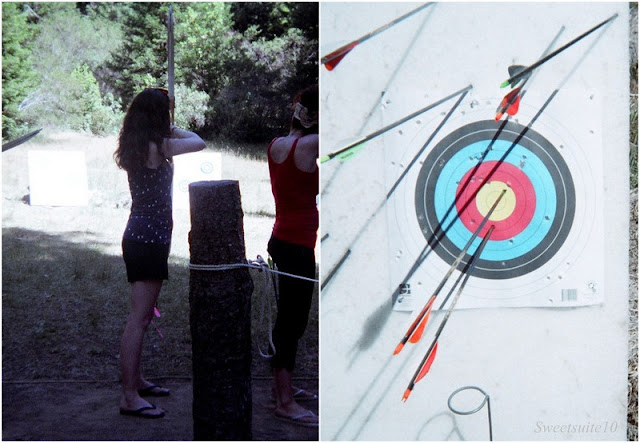 Camp Grounded - trying archery