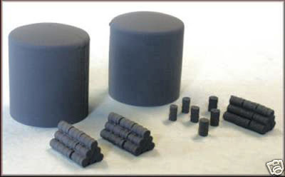 N Gauge Knightwing Fuel Oil / Gas Tanks Drum Stacks Drums