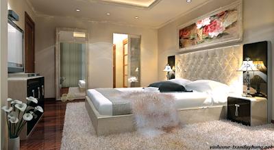 Không gian phòng ngủ trong căn hộ Vinhomes Trần Duy Hưng