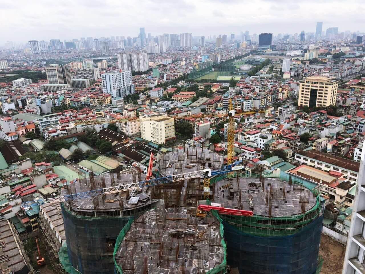 Cập nhật tiến độ xây dựng dự án Sky View 360 Giải Phóng