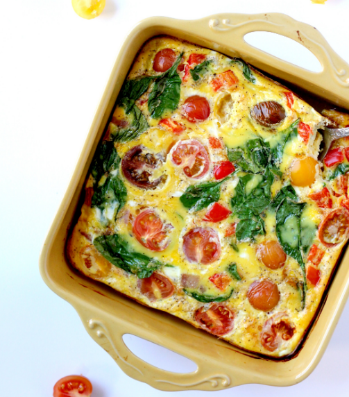 DAIRY FREE FRITTATA WITH HEIRLOOM TOMATOES #healthy #recipe