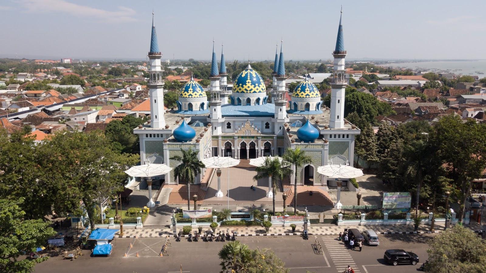 Masjid Agung Tuban Drone Aerial View Sewa Drone Jawa Timur