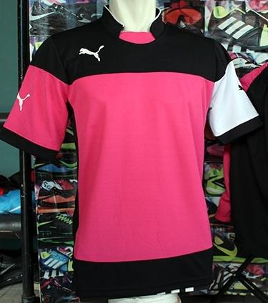Desain Jersey Futsal Puma Warna Pink Kombinasi Hitam Putih bfe01cac72