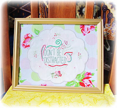 image shabby chic wall art tutorial diy embroidered doily vintage flowers floral framed