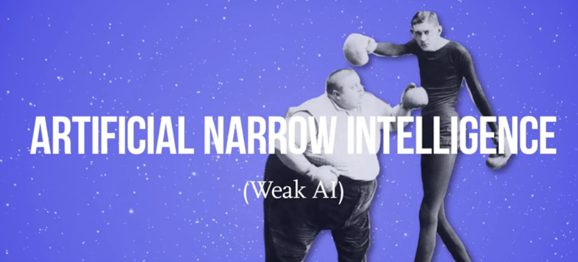 narrow / weak artificial intelligence