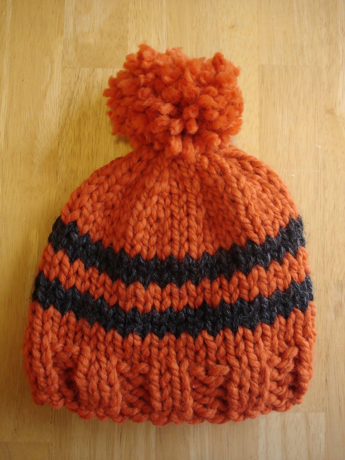 Fiber Flux Free Knitting Pattern Toddler Rugby Hat