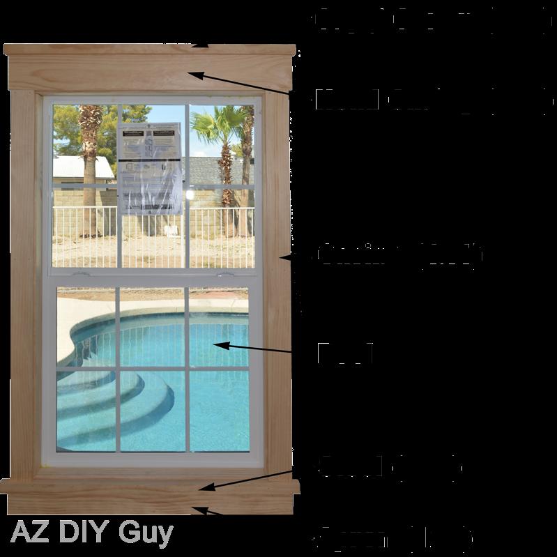 Az diy guy 39 s projects super easy diy craftsman style - Craftsman style exterior trim details ...