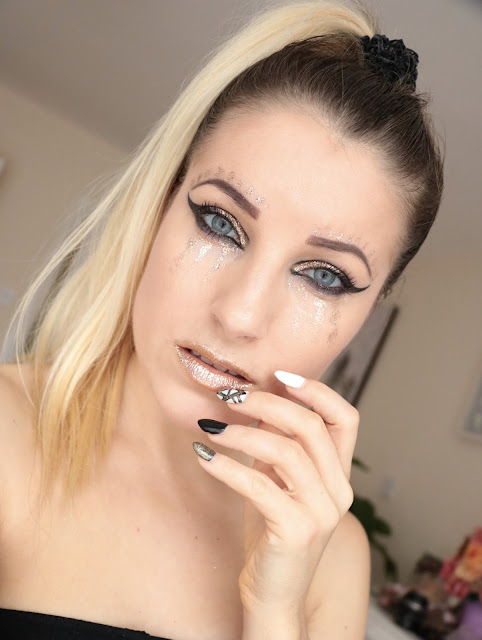 Black & Gold Makeup - Makijaż Artystyczny