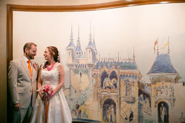 Disneyland Hotel Wedding - Bride and Groom