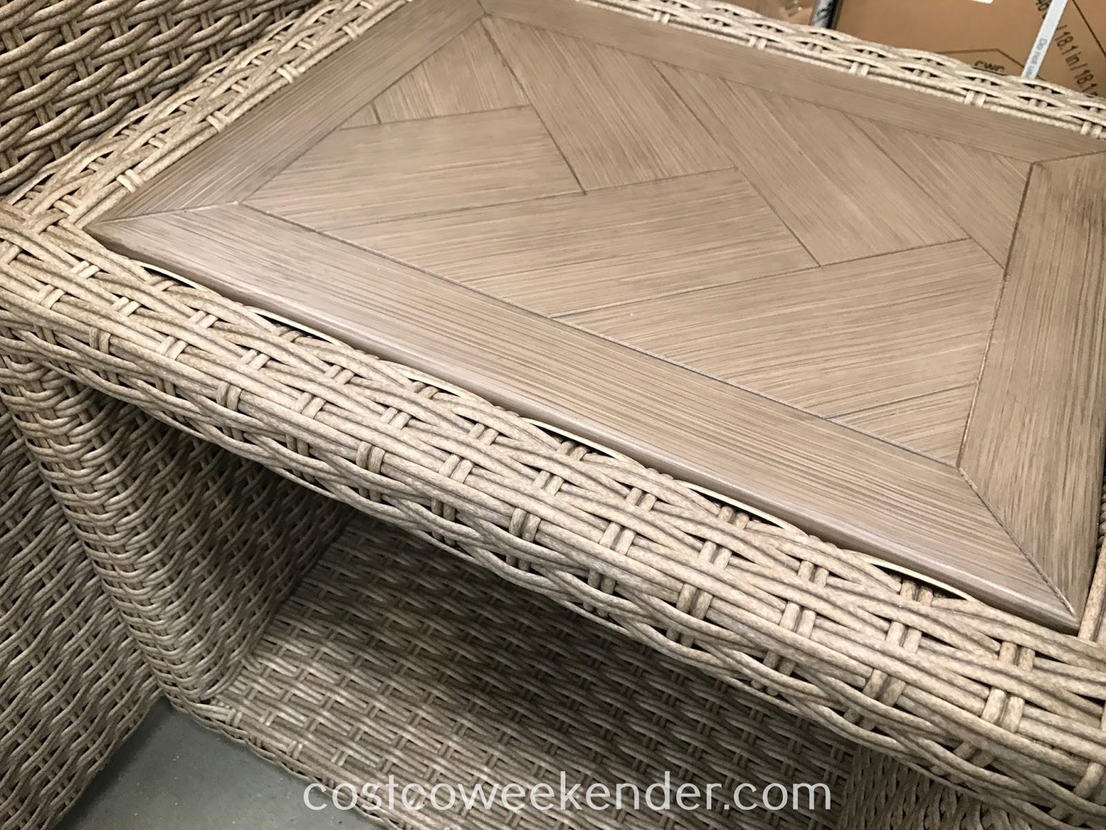 Woven Seating Set side table