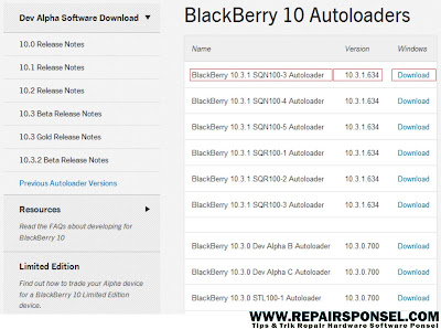 Download all Autoloaders for Blackberry 10