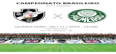 Como assistir Vasco x Palmeiras ao vivo e online