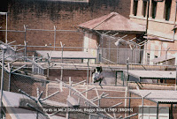 Exercise yards, No.2 Division, Boggo Road Gaol, Brisbane, c.1989.