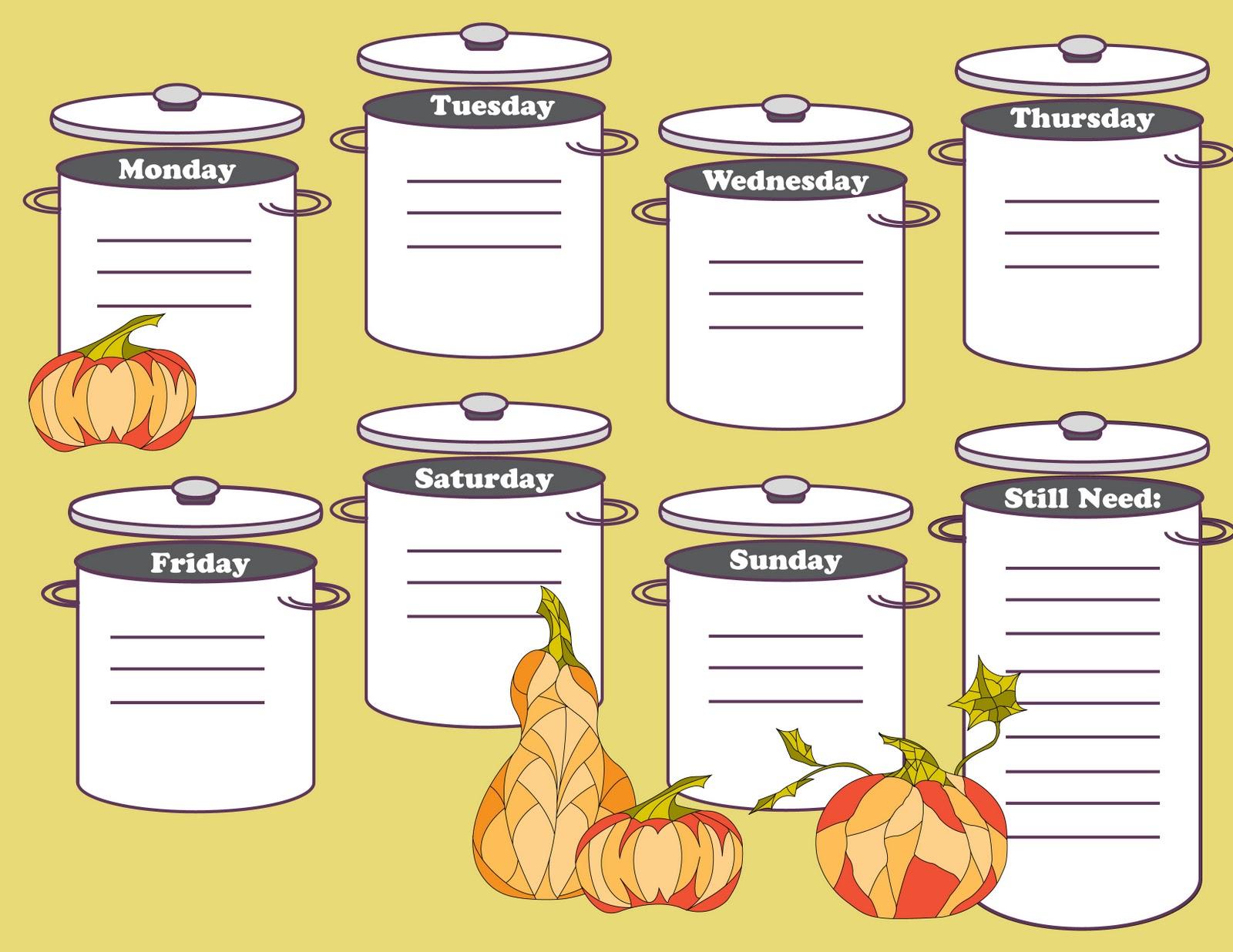 This Designer Cooks Printable Weekly Menu Planner Giveaway