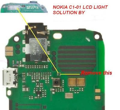 Nokia C1-01 Lcd Light Jumper Solution