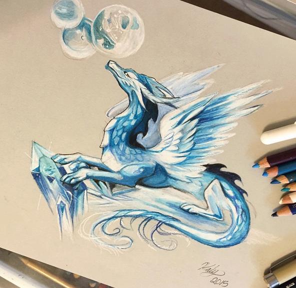 gambar keren kreatif dan menarik dengan menggunakan pensil warna-29