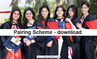 9th General Science Pairing scheme 2020 - Matric 9th combination assessment