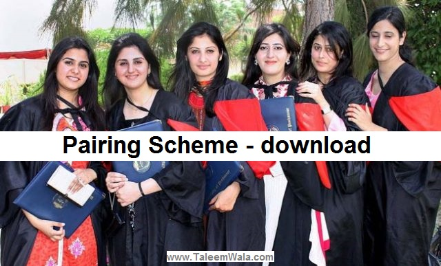 9th Pakistan Studies Pairing Scheme for 2020 - Matric 9th combination
