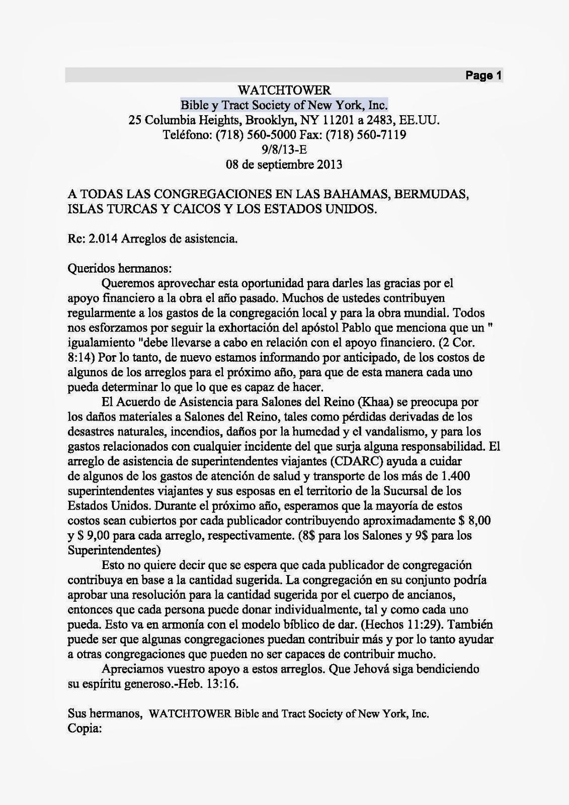 Carta 8 de septiembre de 2013 original en inglés