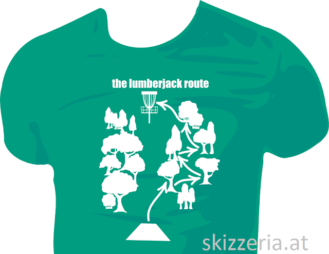 Lumberjack Route Shirtdesign by skizzeria.at