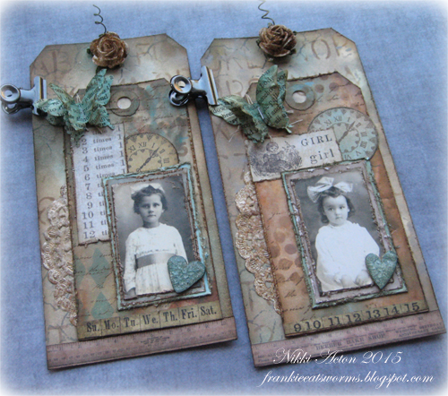 Tim Holtz inspired tags for A Vintage Journey