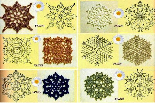wzory szydelkowych kwadracikow