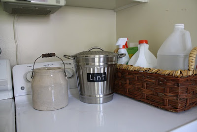 lint can, laundry room organization