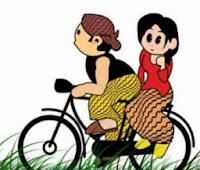 gambar kartun jawa romantis lucu penuh kenangan
