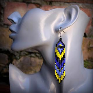 купить этнические серьги ручной работы необычные украшения из бисера ру