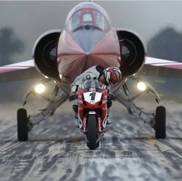 Ducati 999 and Lockheed F104 Starfighter