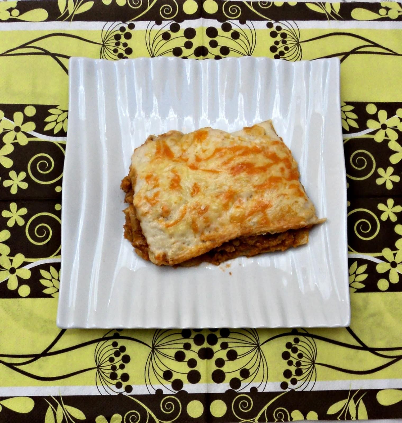 receta casera lasaña carne pasta