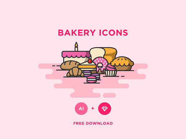Download Bakery Vector Icons Set Free