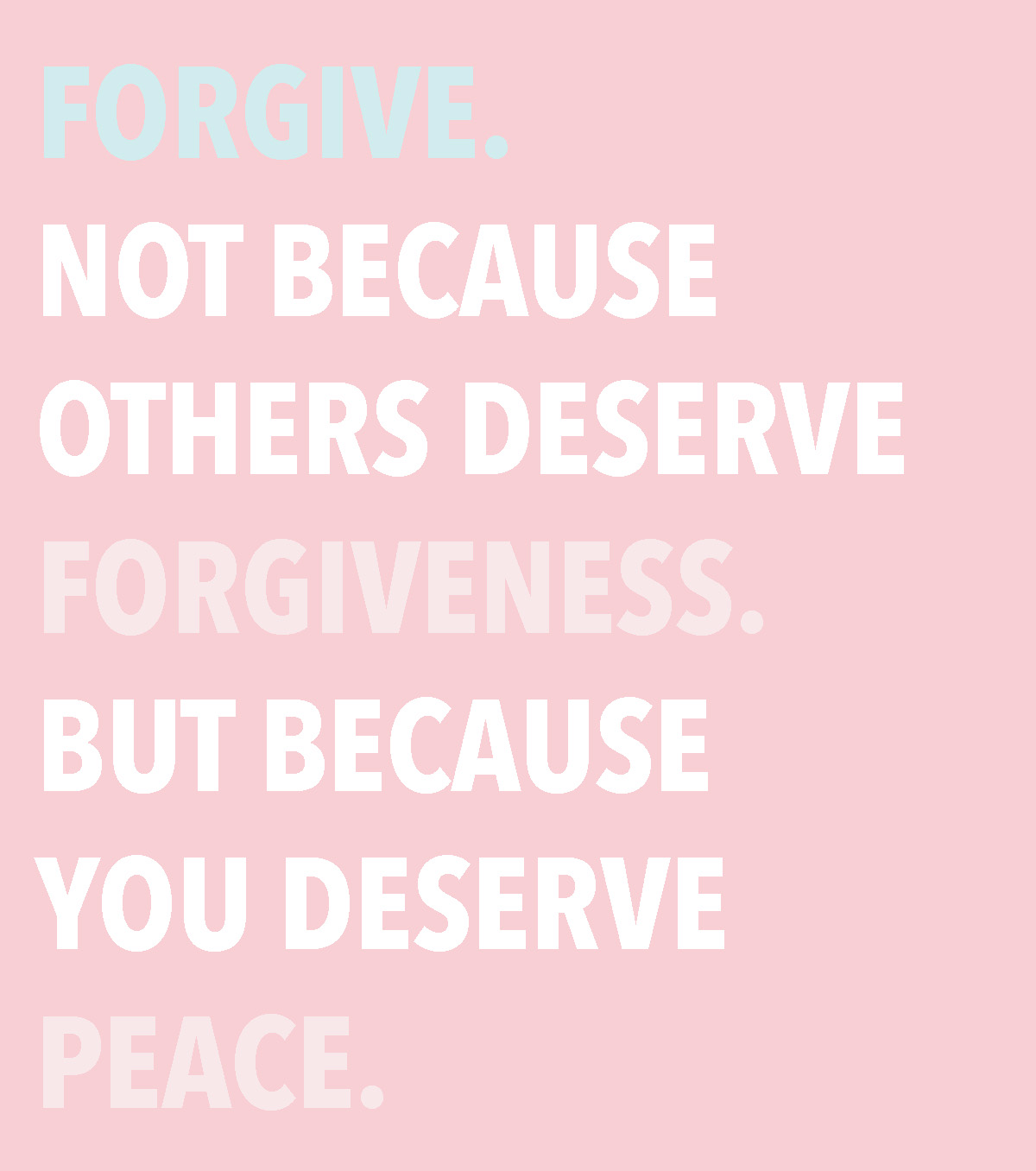 forgiveness and finding peace happiness quote