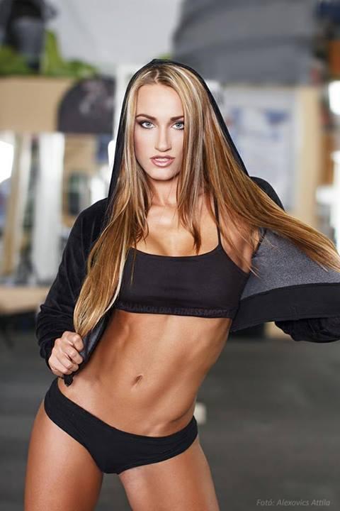 blonde fitness model