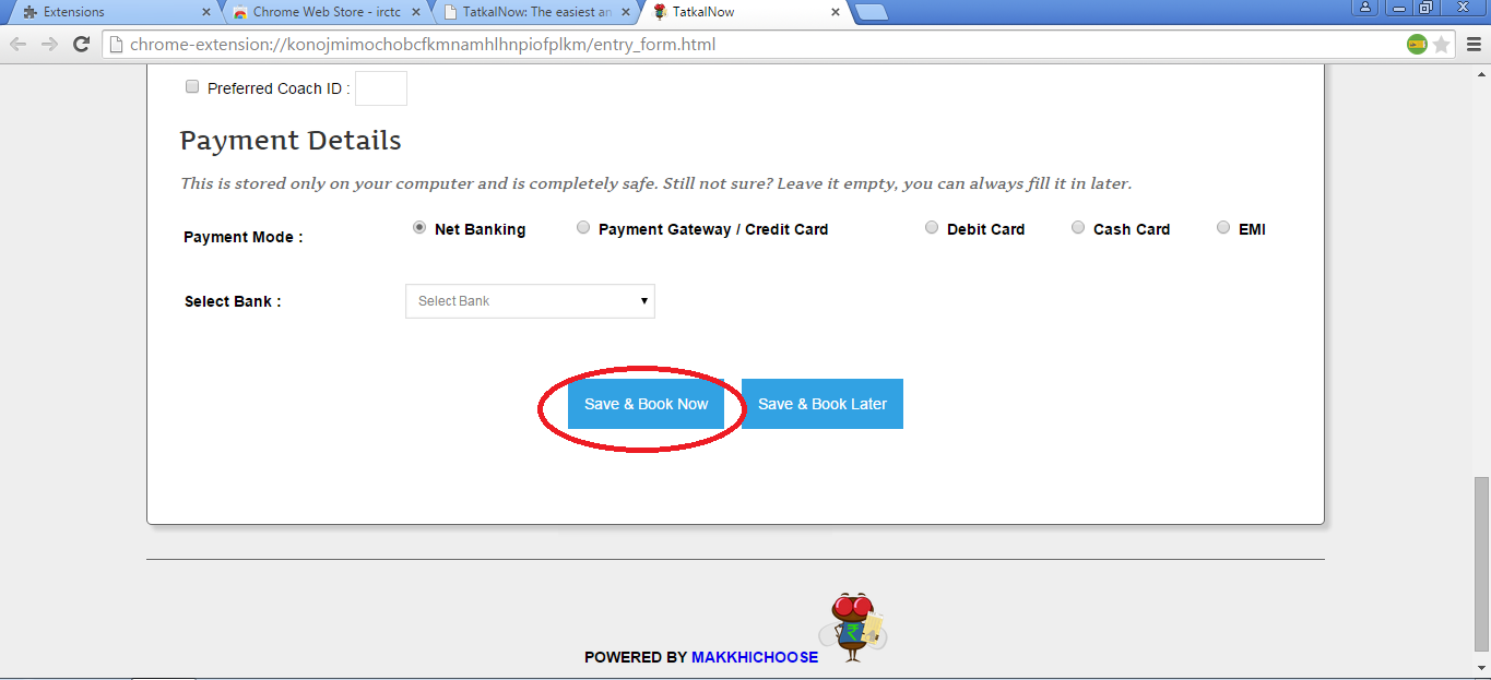 How to IRCTC Tatkal Ticket booking in one minute ~ Soon Helps