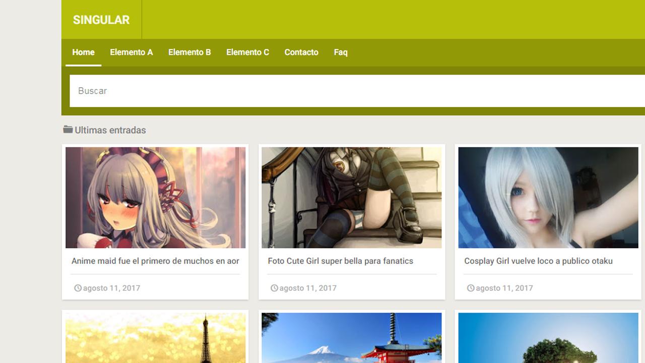 Singular – plantilla tipo galería responsive, blogger