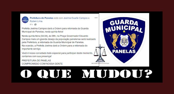 GUARDA MUNICIPAL DE PANELAS VOLTARÁ?