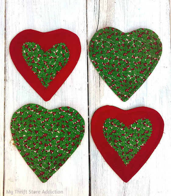 handmade Christmas coasters
